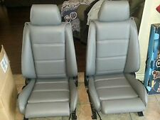 BMW E30 325i 318i M3 SPORT SEATS REUPHOLSTERED SILVER GERMAN VINYL BEAUTIFUL