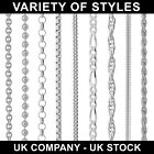 925 STERLING SILVER CHAIN NECKLACE CURB ROPE VARIOUS LENGTHS