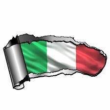Adesivo sticker car tuning auto automobile grigio metallizzato BANDIERA ITALIA