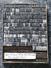 Vintage 30pt Stymie Medium Bold Cond Foundry Type Letterpress No Lowercase L