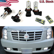 6x White LED DRL Driving Fog Light Bulbs Combo For 2007-2014 Cadillac Escalade