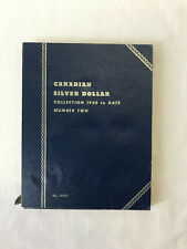 Whitman Blue Folder 9087 for Canada SILVER DOLLAR Coin Collection (1958 To date)