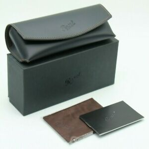 NEW PERSOL EYEGLASSES SUNGLASSES BLACK SOFT LEATHER CASE CLOTH BOX DOCUMENTS