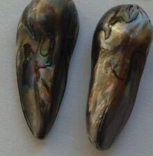 2 iridescent gris eau douce Perle Baroque Perles 23 mm Bijoux/Artisanat