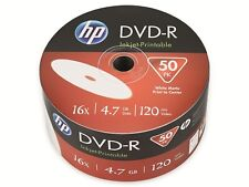 50 HP DVD-R Rohlinge 4,7Gb 16x Bedruckbar Bulk 50er Shrink Ink Printable