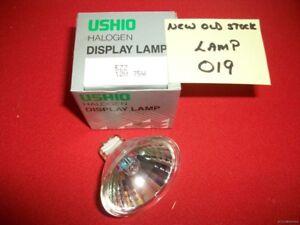 9-USHIO HALOGEN DISPLAY LAMPS MODEL # EZZ 12-VOLT 75-WATT NOS ALL-9-FOR-1-BID