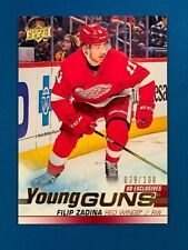 19-20 UD Exclusives FILIP ZADINA Young Guns /100 * Red Wings * SP