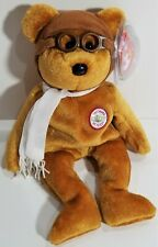 """TY Beanie Babies """"BEARON (Rare Brown Version)"""" Midwest Airlines Teddy Bear ~MWMT"""
