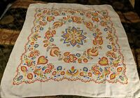 "Nordic Scandinavian Dutch Style Vintage Tablecloth - 46"" x 46"" Square"