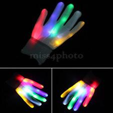 1 Paio Guanti Luminosi Con Luci a LED Gloves Decora Concerti Giocattolo Regalo