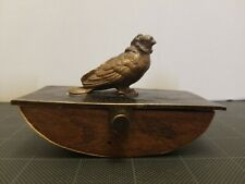 "Austrian Ink Blotter Bird Bronze Metal Rocker Antique Writing tool Engraved ""M"""