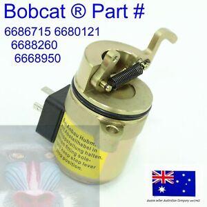 fits Bobcat FUEL Shutoff Solenoid 6686715 Deutz Engine 442 863 864 873 883 S250