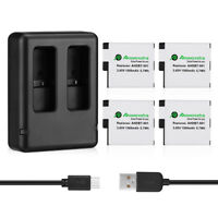 1500mAh AHDBT-501 Battery + Wall Dual USB Charger for GoPro Hero 5 Black Hero5