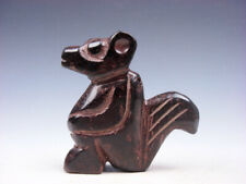 Old Nephrite Jade Stone Carved HongShan Culture Mouse Shaped Figurine #02142002