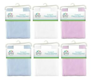Newborn Baby Blanket Super Soft Fleece Blanket For Pram Cot Crib Moses Basket