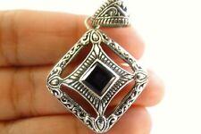 Purple Amethyst Intricate Design Balinese 925 Sterling Silver Pendant