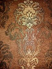 Tissu D'ameublement Baroque Antique Neu Jaquard Chenille Webstoff Brun
