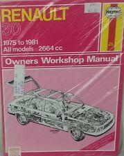 Renault 30 Workshop Repair Manual 1975-1981 with MPN HA682
