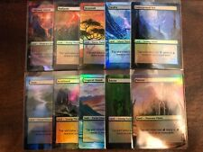 10 Dual Lands Full Art Borderless swamp island plains Mountain Forest mtg Magic