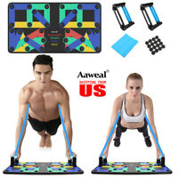 18/9 in1 Push Up Rack Board System Fitness Workout Train Gym Exercise Body Stand