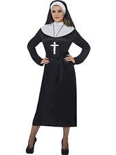 Smiffys Complete Nun Costume, Saints and Sinners Fancy Dress, UK Size 16-18