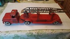1950s Buddy L BLFD #3 pressed steel extension ladder fire truck toy vintage