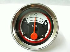 158583A New White Oliver Tractor Ammeter Gauge Black Red Face 1550 1555