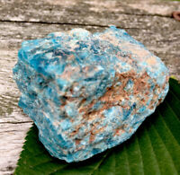 143g  LARGE BLUE/GREEN APATITE MINERAL CRYSTAL HEALING ROCK Reiki  NORWAY