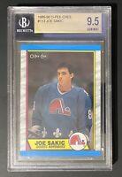 1989-90 O-Pee-Chee Joe Sakic Rookie Card #113 Graded BGS 9.5 GEM MINT HOF OPC