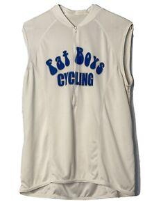 Vintage FATS BOYS CYCLING Bicycling BMX Sleeveless Jersey Shirt X-Large