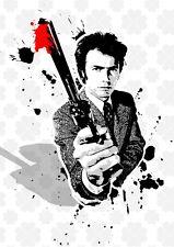 Dirty Harry Clint Eastwood street Art poster film icons Chris Boyle
