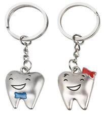 2 Porte-clés motifs dents avec sourire pour couple ou meilleurs amies.