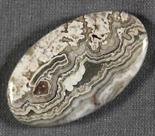 NATURAL MEXICAN CRAZY LACE AGATE OVAL CABOCHON 35x20MM (144)