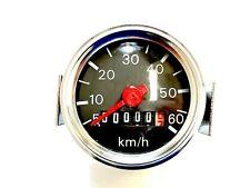 Tachometer schwarz Speedometer 60km/h Sachs Herkules Simson Kreidler Puch NEU