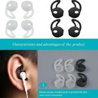 2Pairs Eartips Silikon In-Ear Headset Ohrhörer Cover mit Haken für Airpods Q9V3