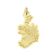 14Kt Yellow Gold Polished Travel Ireland Charm Pendant