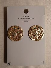 Gold Oversized Jewel Stud Earrings H&M Collection NWT