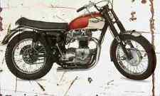 TRIUMPH Bonneville TT especial 1966 Envejecido Vintage sign A3 Grande Retro