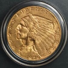1929 Gold Indian Head 2 1/2 Dollar $2.5 Quarter Eagle Coin