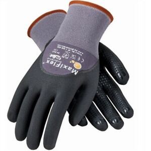 PIP 34-845 MaxiFlex Dotted Palms 3/4 Coat Nitrile Micro-Foam Gloves Size: XXS-2X