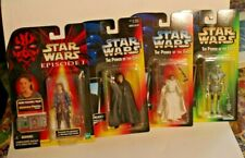STAR WARS POWER OF THE FORCE 3 Figure  + 1 EPISODE 1 Princess Lea Luke 2-1B