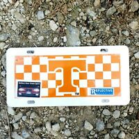 Tennessee Vols Tag Reflective Orange White Checkered New NCAA Chattanooga