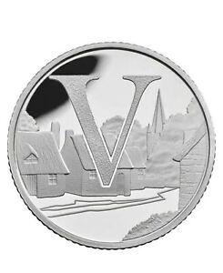 Rare 2019 Alphabet A-Z 10p Ten Pence Coin V - Villages From Sealed Bag