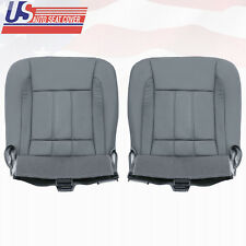 2006 - 2009 Dodge Ram 2500 Driver+Passenger Side Bottom Leather Seat Covers Gray
