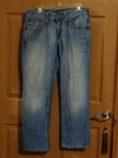 Men's True Religion Straight Boot Cut Jeans 32 x 29.5 with Flap USA EUC