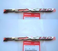 Honda PCX 125 150 Sticker Badge Logo Fairing Emblem 3D Silver * GENUINE HONDA *