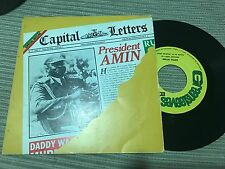 "CAPITAL LETTERS - SPANISH 7"" SINGLE SPAIN PRESIDENT AMIN - ROOTS REGGAE"