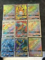 GX Full Art Holo Rare Pokemon Cards - Various GX Sets