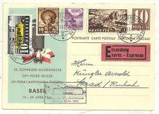 * 1941 SWITZERLAND ILLUSTRATED POSTAL STATIONERY EXPRESS SCHWEIZER MUSTERMESSE