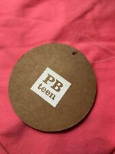 NWT Pottery Barn Teen Washed Twill Beanbag Slipcover Only, Large, Bright Pink